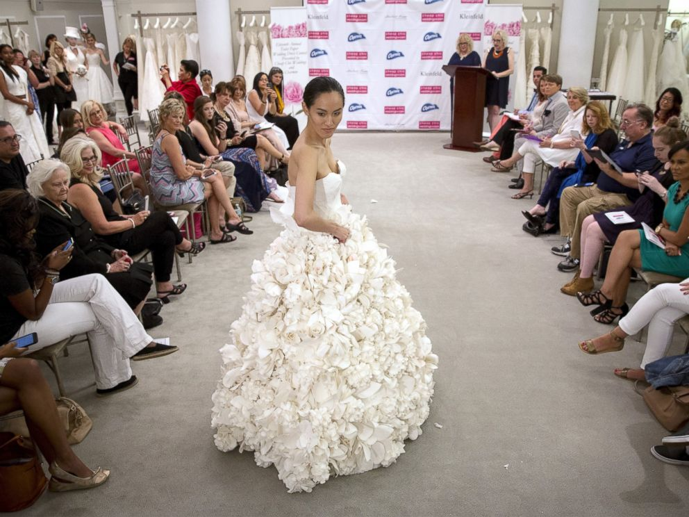 OMG: In Pics: These stunning wedding gowns are made of toilet paper!