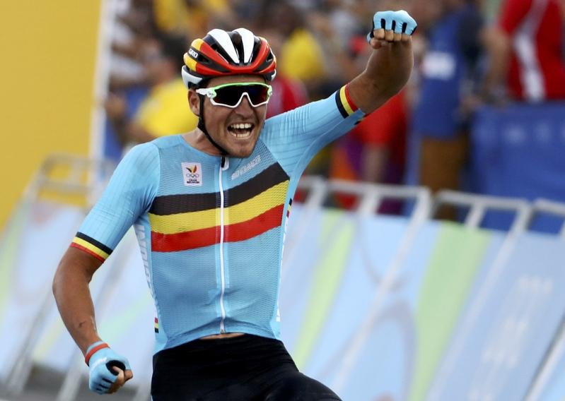 86bd573e3 Greg Van Avermaet (BEL) of Belgium celebrates as he crosses the finish line.  (Reuters Photo)