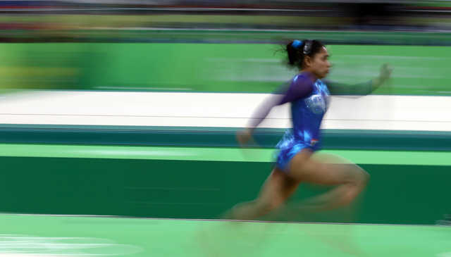 Rio Olympics: Unseen pictures of Indian gymnast Dipa Karmakar at Rio Olympics