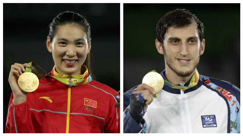 China, Azerbaijan win Rio's last taekwondo gold medals