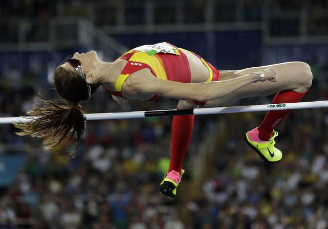 Spanish veteran Beitia wins high jump gold