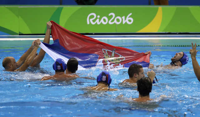 Serbia on a roll with gold medal in water polo