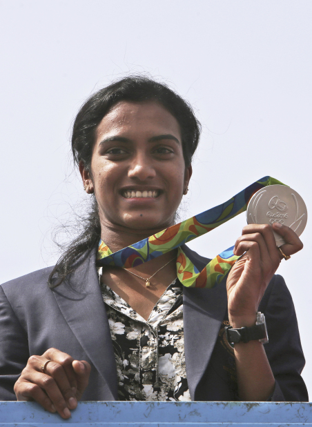 Photos: India welcomes PV Sindhu after rare medal in Rio