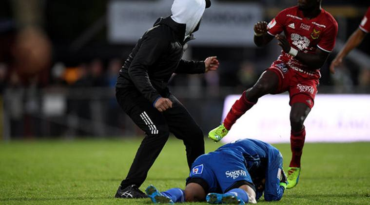 VIDEO: Man attacks Swedish goalkeeper for bet on game says prosecution