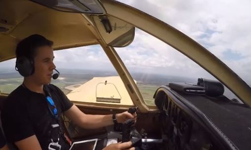 Australian teen completes record round world solo flight