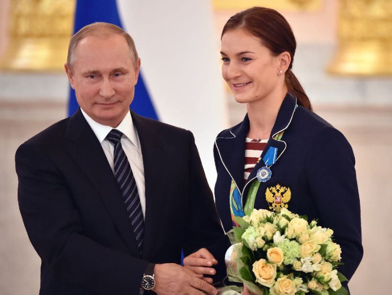 Russian Olympians visit Moscow's airbase in Syria