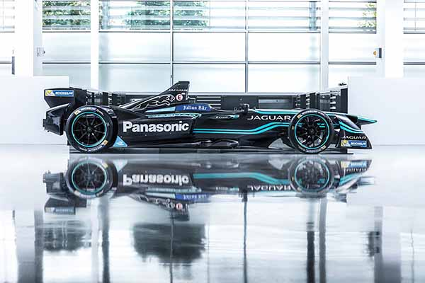 Jaguar unveils first all-electric racing car
