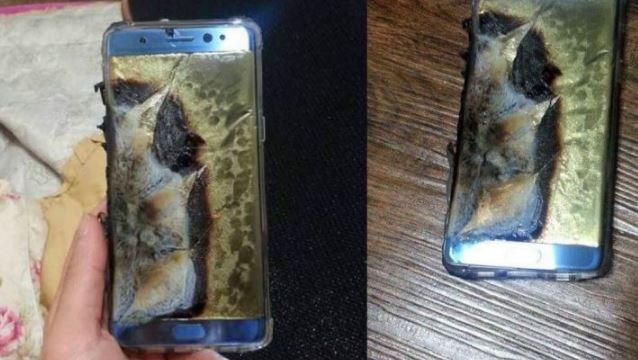 Samsung says there are 3 reports of China phone battery fire