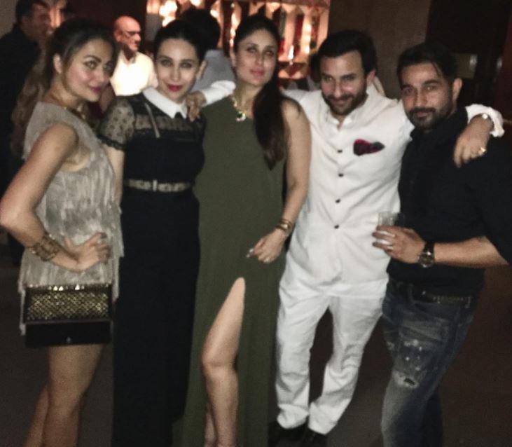 Karisma, Kareena, Saif and Amrita Arora give 'Birthday Bumps' to Ranbir Kapoor