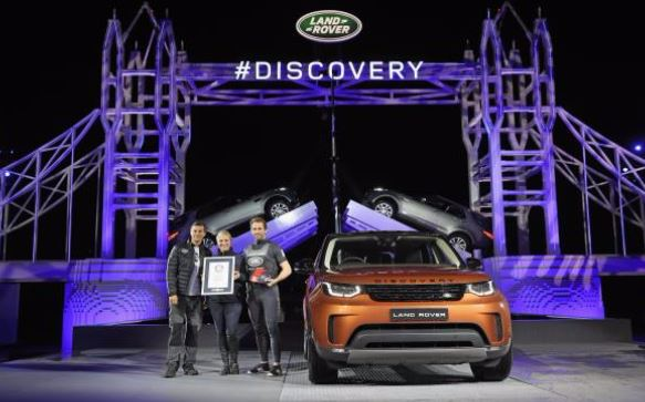 All-new Discovery makes debut on record-breaking giant Lego Tower Bridge