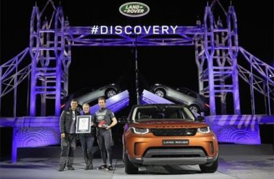 All-new Discovery debuts on giant Lego Tower Bridge