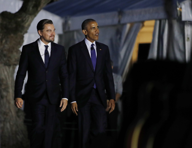 Photos: Obama, DiCaprio team up against climate change