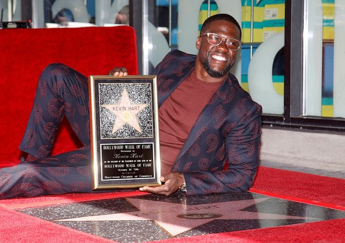 Kevin Hart receives star on Hollywood Walk of Fame