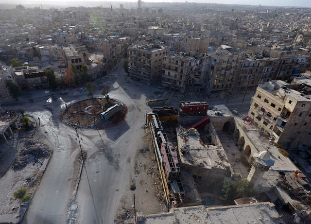 Fresh airstrikes on Aleppo