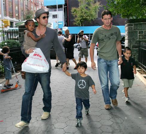 Brad Pitt reunites with kids since divorce with Jolie