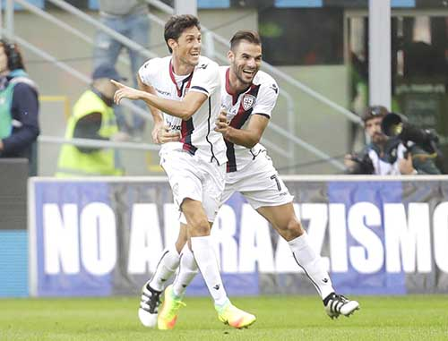 Cagliari stun Inter Milan