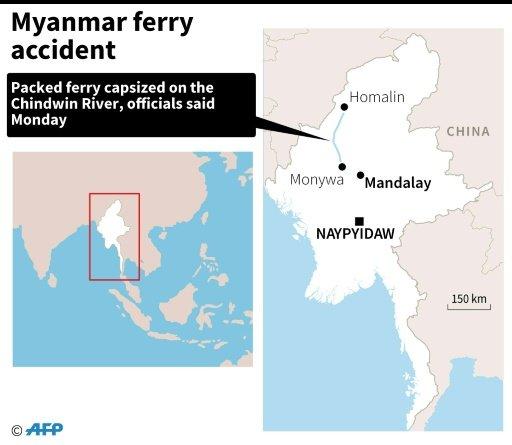 14 dead, scores missing in Myanmar ferry disaster