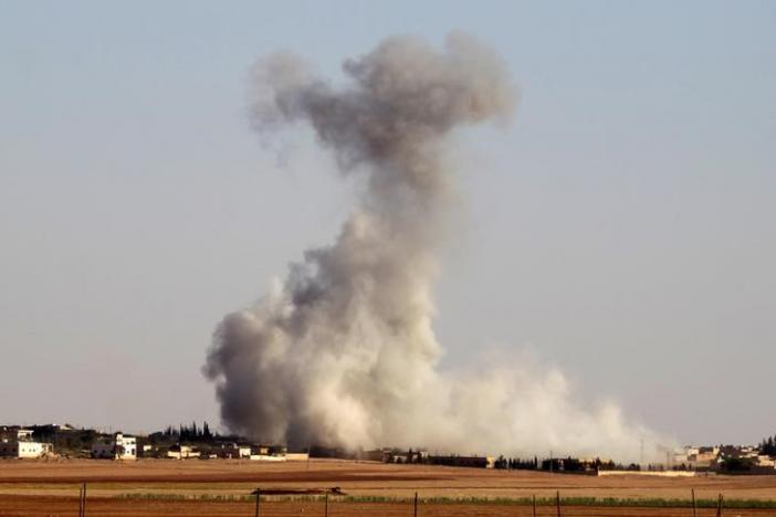 Coalition warplanes kill 20 Islamic State militants in Syria