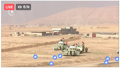 The battle for Mosul is being live streamed on Facebook!