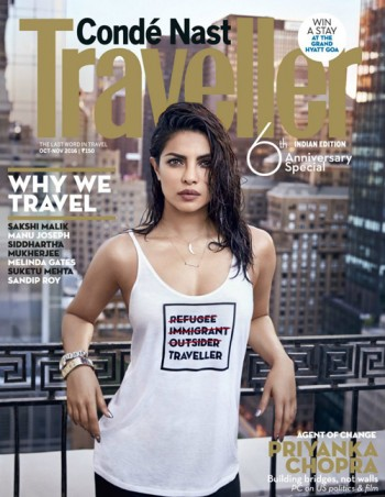 """Priyanka Chopra apologises after twitter outrage over """"refugee"""" t-shirt cover"""