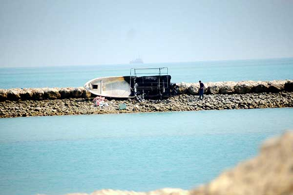 Boat crash scare for Bahraini