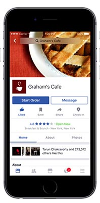 Facebook users can now order food