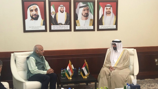 Akbar holds talks with UAE ministers