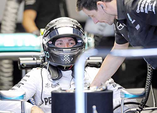 Rosberg quickest in US GP practice