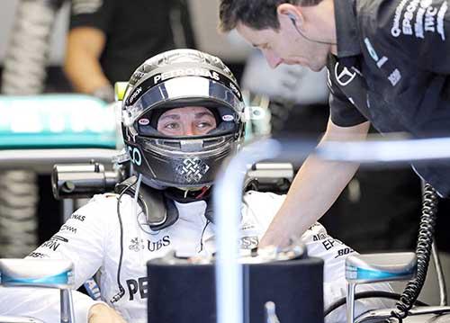 Rosberg quickest in US GP practice