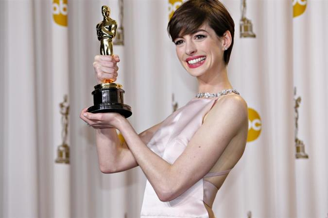 Anne Hathaway wasn't happy about her Oscar win