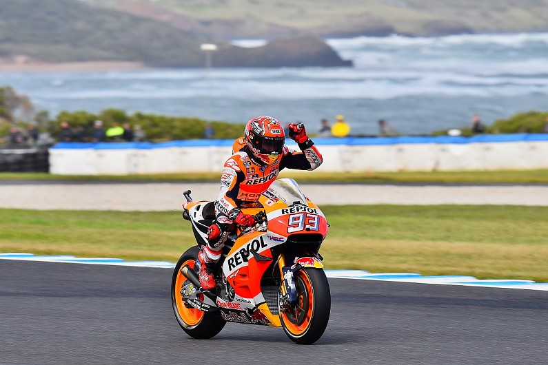 Marquez on pole for Australian MotoGP