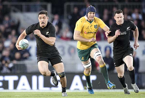 All Blacks power to record victory