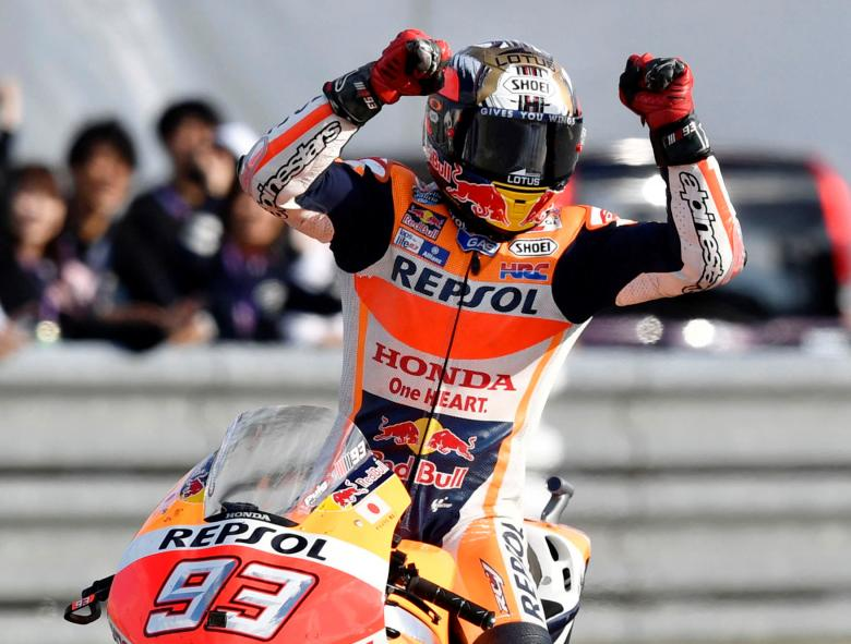 Marquez fastest in pre-race warm-up in Australia