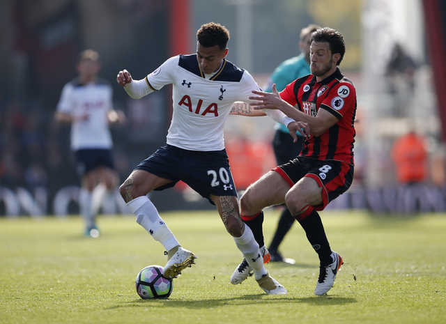 Tottenham Hotspur's stay unbeaten but made to work hard by Bournemouth