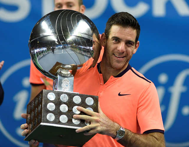 Del Potro wins Stockholm title after 33-month drought