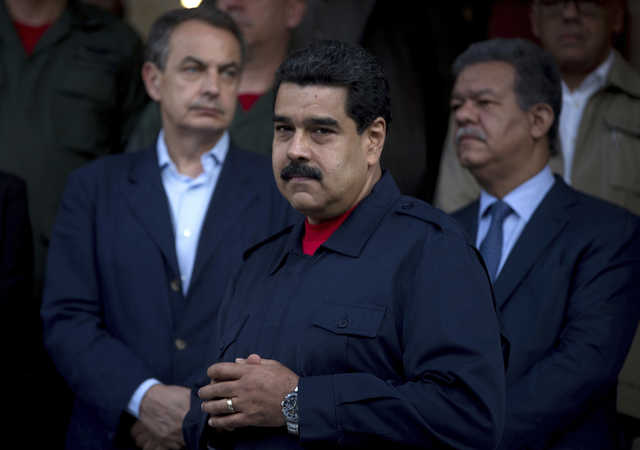 Venezuela's embattled president meets pope at Vatican