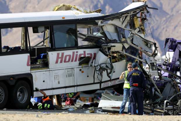 13 dead in California tour bus, truck crash