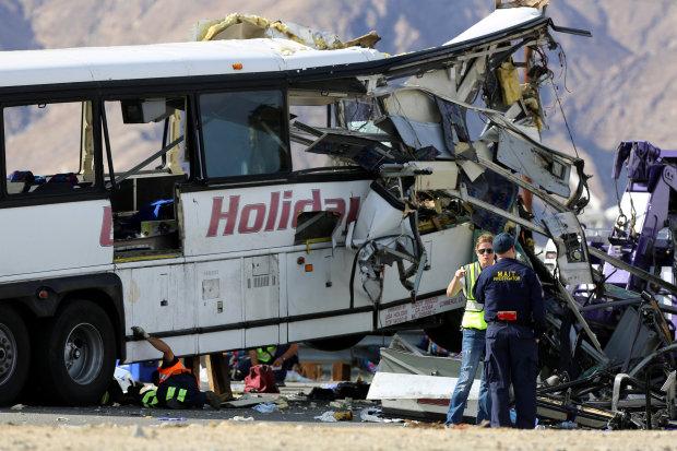 13 dead in California tour bus, truck crash