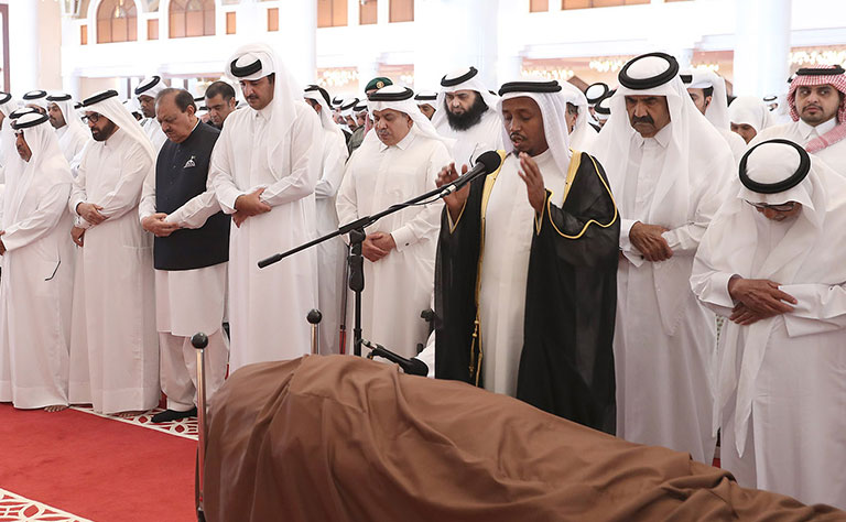 In Pictures: Former Qatari ruler laid to rest