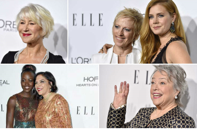 Photos: Helen Mirren, Kathy Bates, Lupita Nyong'o share life lessons at Elle dinner
