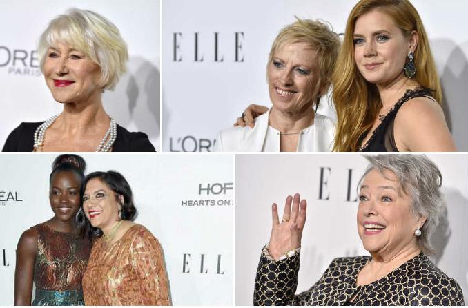Photos: Helen Mirren, Kathy Bates, Lupita Nyong'o share life lessons at Elle dinner