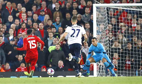 ENGLISH LEAGUE CUP: LIVERPOOL ENTER QUARTERS