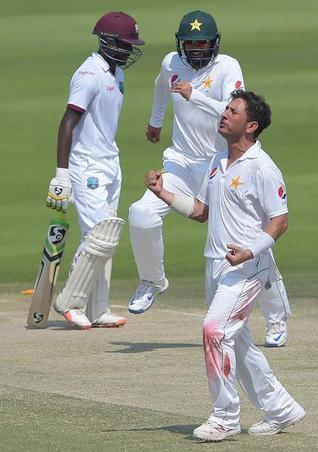 Yasir spins Pakistan to 133-run victory over Windies
