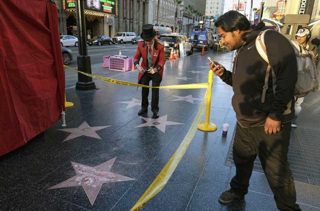 Trump's Hollywood star vandalised