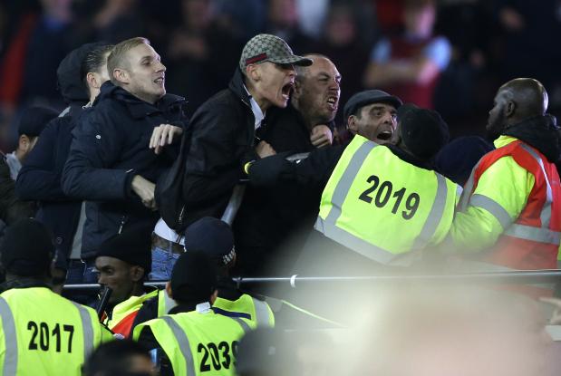 In Pictures: West Ham, Chelsea fans clash at London Stadium