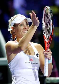 Kerber breezes into semi-finals