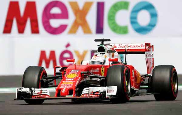 Vettel sets pace in Mexico