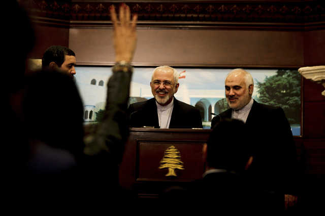 Iran's foreign minister is first to meet Lebanon's new president