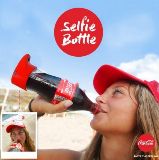 A Coca-Cola bottle that takes a selfie while you drink
