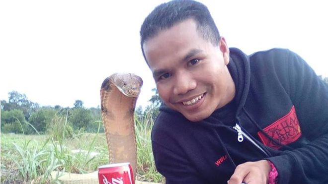 No, I did not marry a snake, says fireman